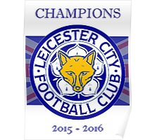 Leicester City Champion England  Poster
