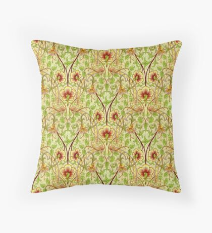 The Daffodil Abstract Design Throw Pillow