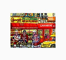 CAARNEGIE'S DELI IN NEW YORK WITH HOCKEY ART Unisex T-Shirt