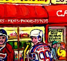 CAARNEGIE'S DELI IN NEW YORK WITH HOCKEY ART Sticker