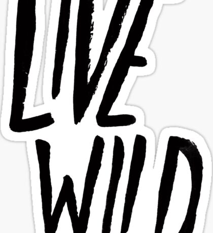 Live Wild Typography Sticker