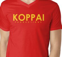 Koppai Productions Text Logo Mens V-Neck T-Shirt