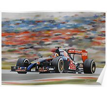 Daniil Kvyat, Toro Rosso STR 9 Poster