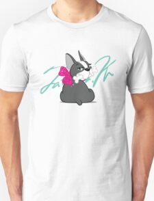 """French Bulldog """"Cherry"""" with a signature   T-Shirt"""