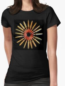 Brass Daisy Womens Fitted T-Shirt