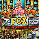FOX THEATRE IN DETROIT WITH STREET HOCKEY by Carole  Spandau