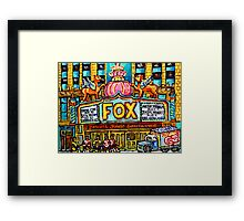 FOX THEATRE IN DETROIT WITH STREET HOCKEY Framed Print
