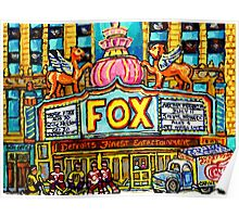 FOX THEATRE IN DETROIT WITH STREET HOCKEY Poster