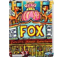 FOX THEATRE IN DETROIT WITH STREET HOCKEY iPad Case/Skin