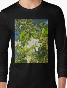 Flowers in White Long Sleeve T-Shirt