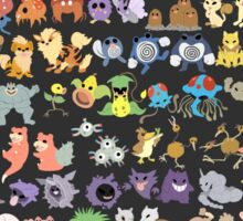 151 monsters Sticker