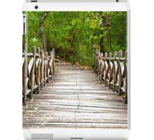 FOREST BRIDGE IN THE WOODS  iPad Case/Skin