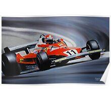 Niki Lauda, Ferrari 312T2 Poster