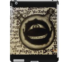 The Dwarf in the Flask Full Metal Alchemist Charcoal Sketch iPad Case/Skin