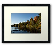 Fall Forest Lake - Reflection Tranquility Framed Print