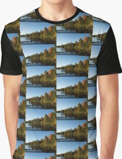 Fall Forest Lake - Reflection Tranquility Graphic T-Shirt