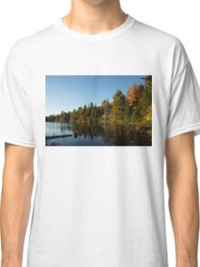 Fall Forest Lake - Reflection Tranquility Classic T-Shirt