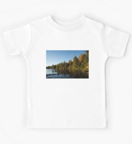 Fall Forest Lake - Reflection Tranquility Kids Tee
