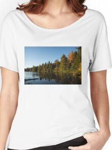 Fall Forest Lake - Reflection Tranquility Women's Relaxed Fit T-Shirt