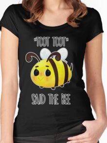 """Toot, Toot"" Women's Fitted Scoop T-Shirt"