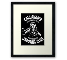 Callahan's Shooting Club Framed Print