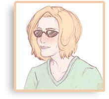 Scully Feat. Sunglasses Canvas Print