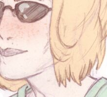 Scully Feat. Sunglasses Sticker