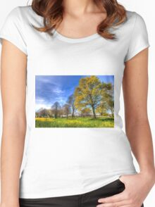 The Summer  English Field Women's Fitted Scoop T-Shirt