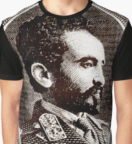 Emperor Haile Selassie-Ethiopia Graphic T-Shirt