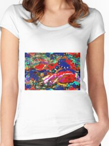 The Fantasy Abstract Women's Fitted Scoop T-Shirt