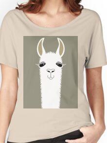 LLAMA PORTRAIT #1 Women's Relaxed Fit T-Shirt