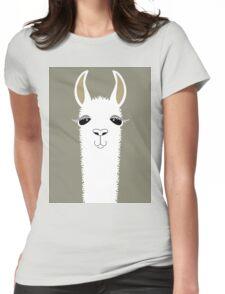 LLAMA PORTRAIT #1 Womens Fitted T-Shirt