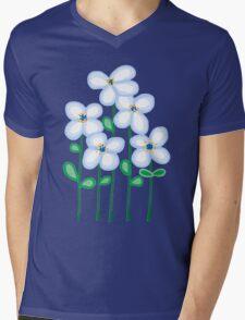 Blue daisies Mens V-Neck T-Shirt