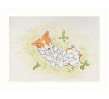 Snuggle Bunnies - Art Print Art Print