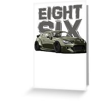 Eight Six Greeting Card