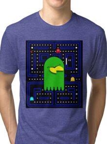 Retro Pac Man Gaming Monster Tri-blend T-Shirt