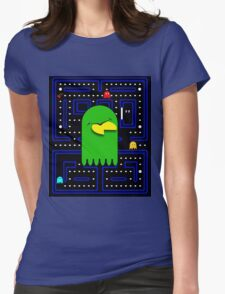 Retro Pac Man Gaming Monster Womens Fitted T-Shirt