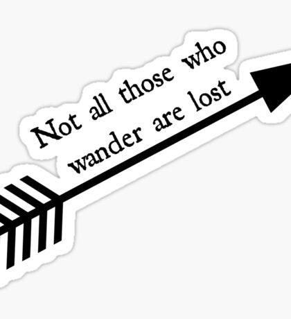 Wanderlust Quote Sticker