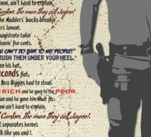 The Ballad of Jayne Cobb Sticker