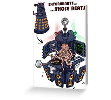 DJ Dalek  Greeting Card