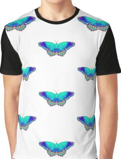 Colorful Butterfly Graphic T-Shirt