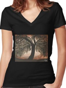 Mystic Willow Women's Fitted V-Neck T-Shirt