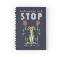 Stop and Smell the Foxes - DARK BLUE Spiral Notebook