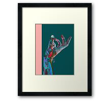haptic touch Framed Print