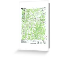 USGS TOPO Map Alabama AL Jones Chapel 304311 2000 24000 Greeting Card