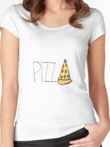 Pizza! Women's Fitted Scoop T-Shirt