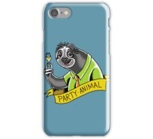 Party Animal Sloth iPhone Case/Skin