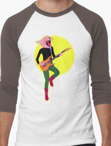 Screamin' Cat, Electric Guitar Men's Baseball ¾ T-Shirt