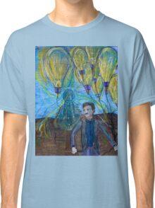 Nikola Tesla Freeing the light bulb balloons Classic T-Shirt