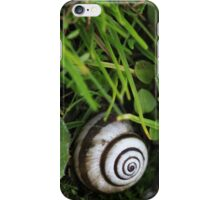 Snail on the grass iPhone Case/Skin